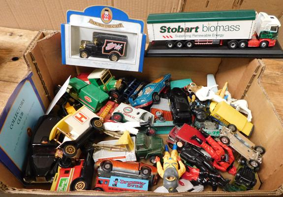 Collection of vintage diecast and Action Force figures