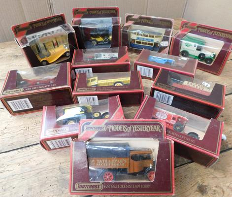 12 x Matchbox models of Yesteryear