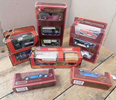 Assortment of Matchbox models of Yesteryear