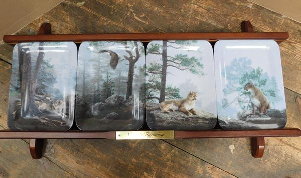 Natures harmony display & 4 plates