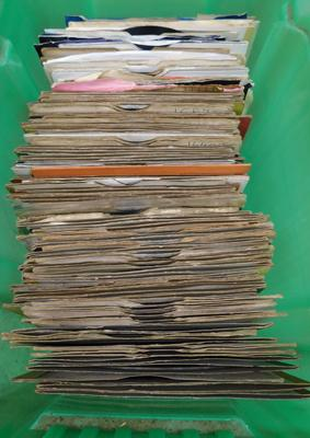 "120 x 7"" singles - 1960s and 70s - some collectable"