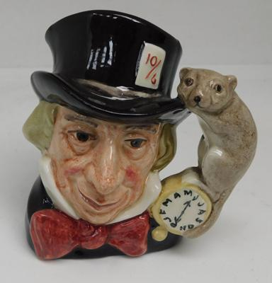Small Royal Doulton character jug - Mad Hatter, D6602, approx. 5 inches high, no damage found