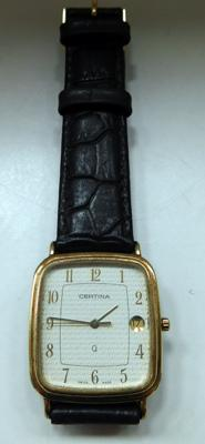 Rare vintage Certina Q gold plated wrist watch