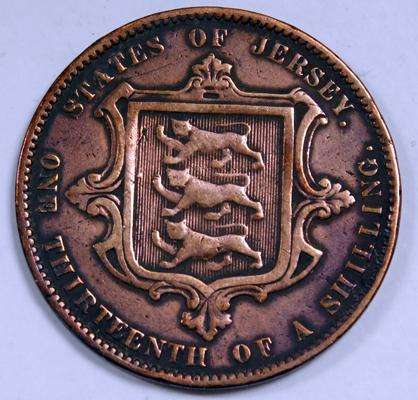 1870 Jersey 1/13 of a shilling