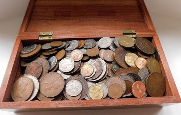 Large amount of old coins inc silver