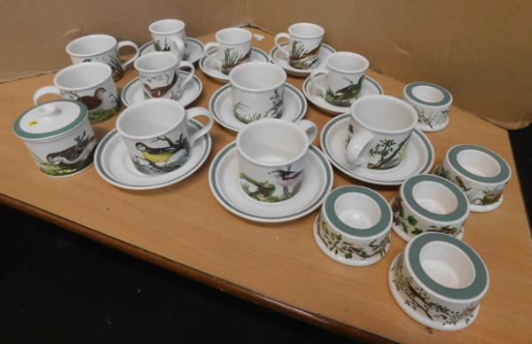 Collection of Portmeirion Birds of Britain ceramics