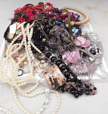 Selection of costume jewellery