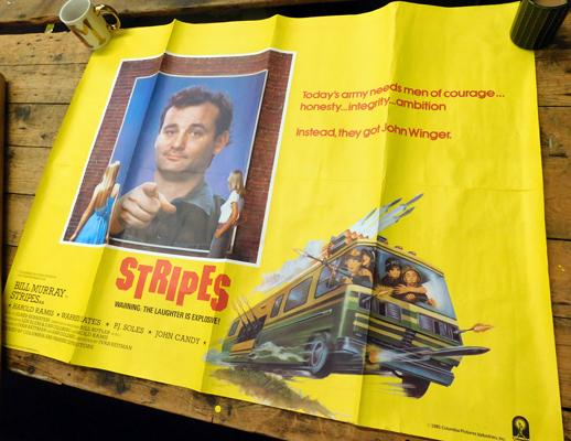 Vintage film poster Stripes featuring Bill Murray