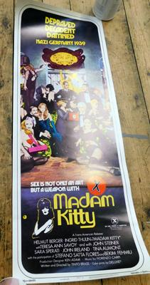 "Vintage Madame Kitty film poster approx 36"" x 14"""