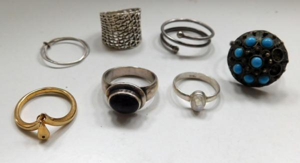 7x Sterling rings-some unusual designs