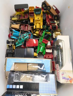 Box of vintage cars