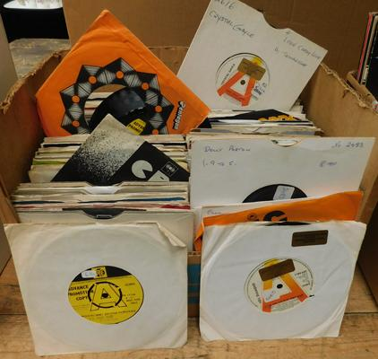 Over 200 singles, 7 inch - 1960s, 70s, 80s, incl. demos