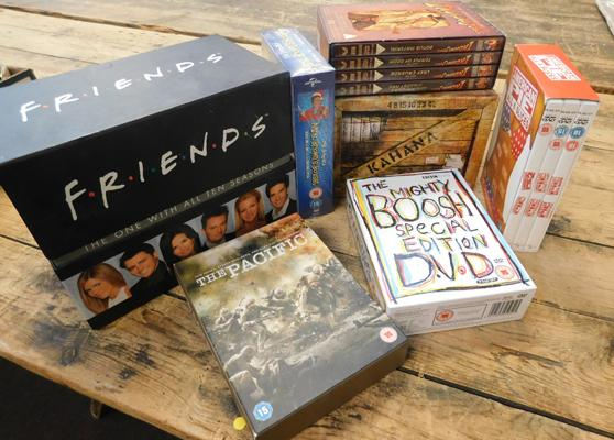 7 boxed DVD sets, incl. complete Friends, Mrs Browns Boys Series 1 7 2 + American Pie