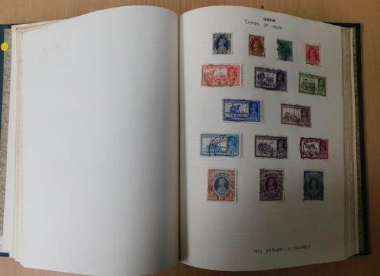 Binder of early commonwealth stamps