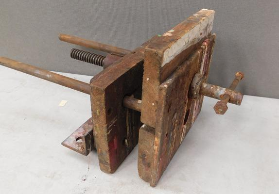 Vintage bench vice
