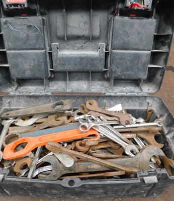 Large toolbox full of spanners etc