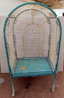 "Large bird cage approx 58"" tall"
