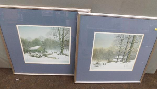 Pair of Limited Edition signed prints, signed Hobbs