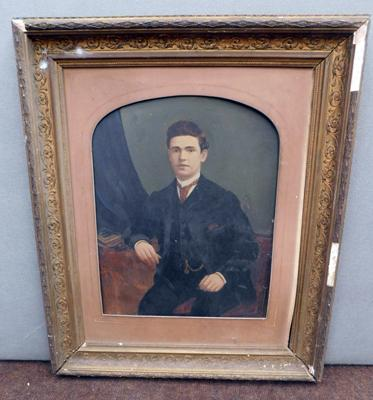 Antique portrait in frame (as seen)