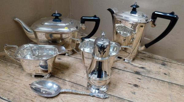 Art Deco style silver plate set