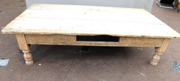 "Long low distressed coffee table approx 30"" x  53"""