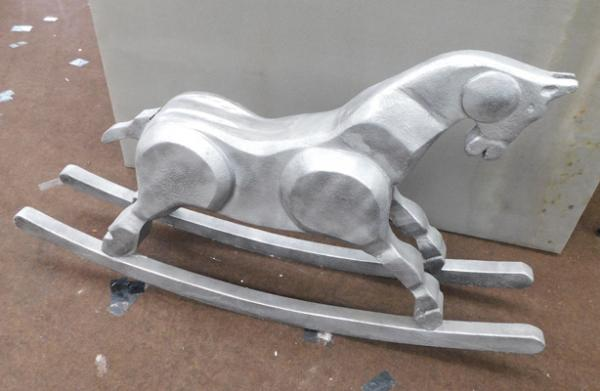 "Contemporary rocking horse  approx31""x53"""