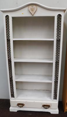 "Shabby Chic bookcase approx 38""x76"""