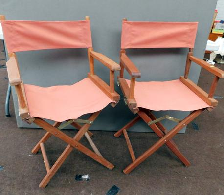 2x Directors chairs