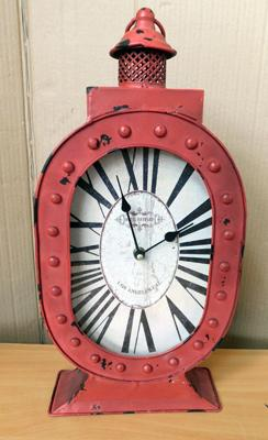 Replica 1930s Hotel Hayward Los Angeles tin plate hanging wall clock approx 16 inches