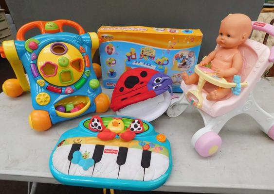 Selection of toddler activity centre toys