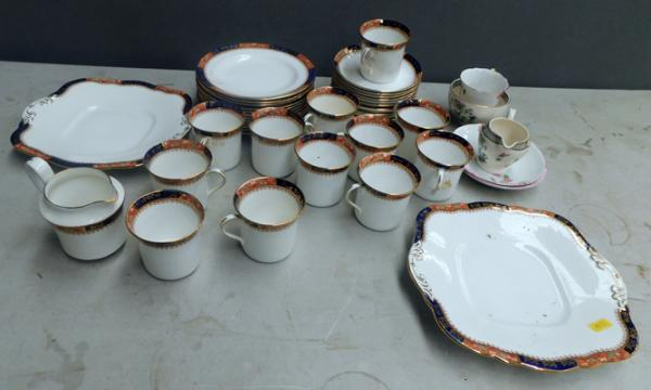 Satsuma teaset - 12 cups, 11 saucers, side plates, milk jug and others