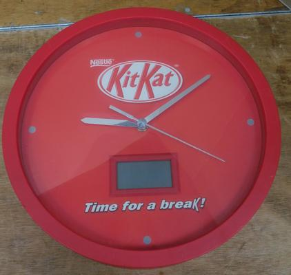 Collectable KitKat clock W/O