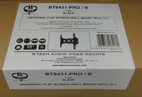 Flat screen TV wall mount for TVs up to 53cm, brand new/sealed