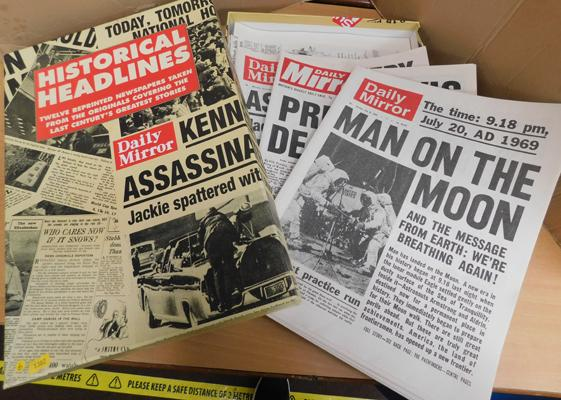 Box of historical headlines - boxed
