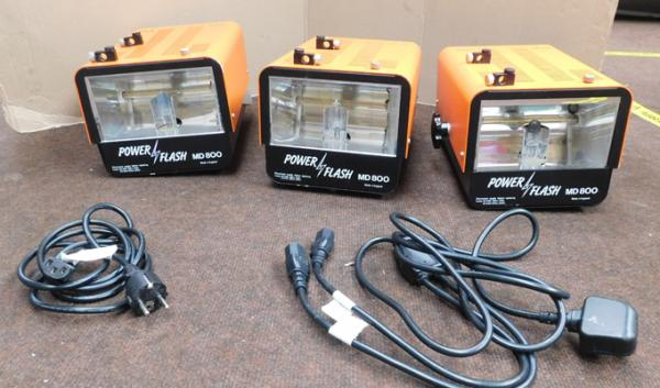 Power flash lamps x3 MD800 kit flag reflector (add) x2