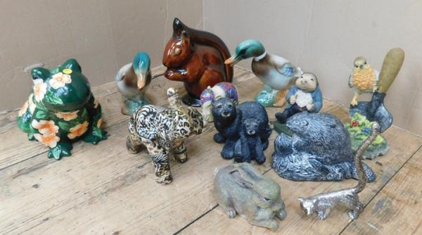 Assortment of animal ornaments