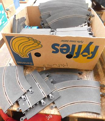 Box of scalextric track-as seen