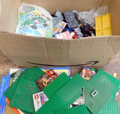 Box of lego and instructions