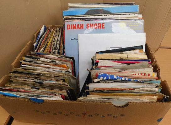 Large selection of records and singles