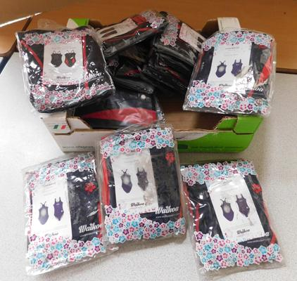 Box of womens swimsuits