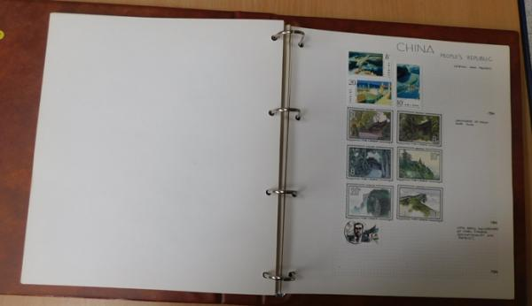 Album of stamps from China