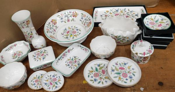 Large assortment of Minton ware