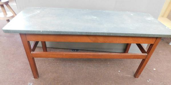 Marble/slate topped coffee table