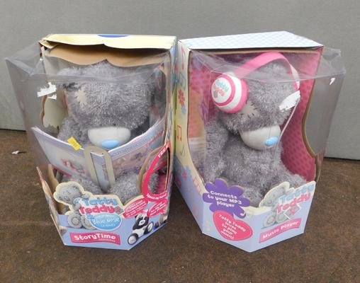 2x Boxed interactive Tatty Teddy sets