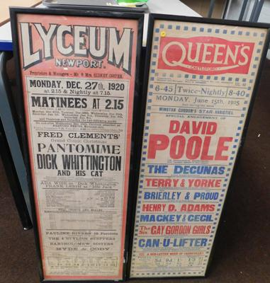 "Pair of vintage advertisements - 30"" tall"