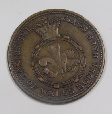 Victorian P.O.W. model half Sovereign