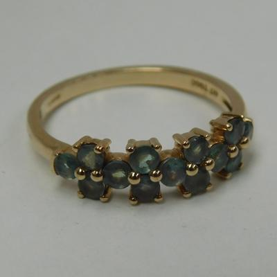 9ct Gold Alexandrite ring-size O