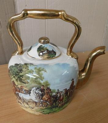 "Large ceramic teapot-no damage approx 11"" tall"