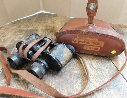 WWII era German binoculars by Otto Walter with original case