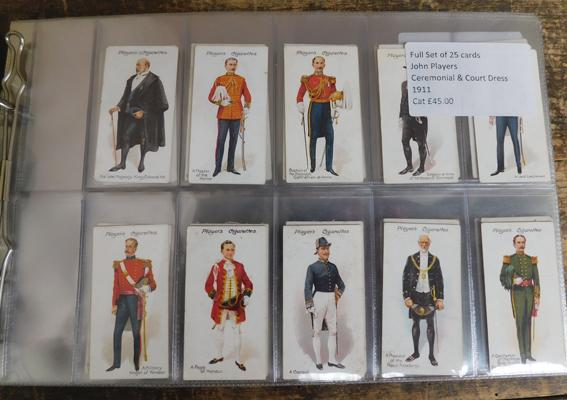 Nine full sets of cigarette & trade cards